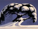 Eyvind Earle-Snow-Tree